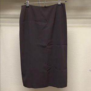 Talbots Petite Size 6 Brown Pencil Cut Skirt
